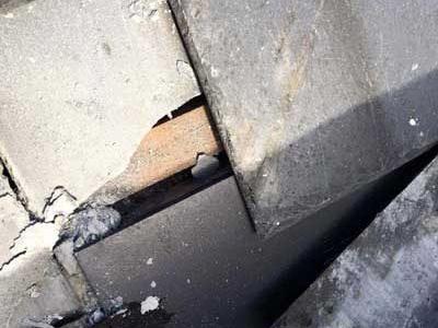 Cracked roof tile needs repair